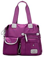 cheap -Women's Bags Tote Zipper for Casual All Seasons Blue Black Purple