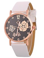 preiswerte -Damen Quartz Einzigartige kreative Uhr Modeuhr Armbanduhren für den Alltag Chinesisch Armbanduhren für den Alltag PU Band Blume Modisch