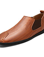 cheap -Men's Shoes Cowhide Spring Fall Light Soles Loafers & Slip-Ons for Office & Career Black Yellow Brown