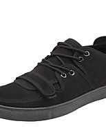 cheap -Men's Shoes Flocking Spring / Fall Comfort Sneakers Black / Red