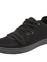 Недорогие -Муж. обувь Бархатистая отделка Весна / Осень Удобная обувь Кеды Черный / Красный
