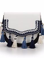 baratos -Mulheres Bolsas PU Bolsa de Ombro Botões Branco / Preto / Cinzento