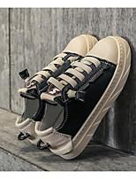 abordables -Garçon Chaussures Cuir Printemps Confort Basket pour Décontracté De plein air Noir Beige