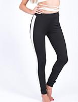 baratos -Mulheres Esportivo Legging - Retalhos Cintura Alta