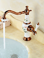 cheap -Faucet Set - Widespread Gold Centerset Single Handle One Hole