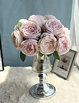 preiswerte -Künstliche Blumen 5 Ast Hochzeitsblumen / Pastoralen Stil Rosen / Camellia Tisch-Blumen
