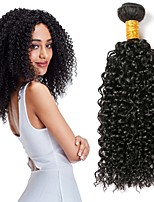 cheap -Brazilian Hair Curly Human Hair Weaves 50g x 3 Extention Human Hair Extensions All Christmas Gifts Christmas Wedding Party Special