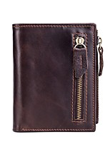 cheap -Unisex Bags Genuine Leather Coin Purse Zipper for Office & Career Coffee
