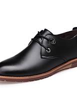 preiswerte -Herrn Schuhe Leder Frühling Sommer formale Schuhe Outdoor Schnalle für Normal Büro & Karriere Schwarz Gelb Braun