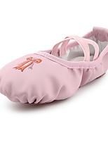 abordables -Fille Chaussures de Ballet Similicuir Plate Intérieur / Entraînement Fleur Talon Plat Personnalisables Chaussures de danse Rose