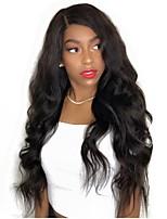 cheap -Virgin Human Hair Wig Brazilian Hair Body Wave Wavy Layered Haircut 130% Density With Baby Hair Natural Hairline Black Short Long Mid