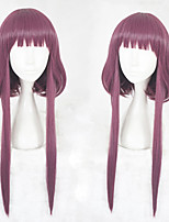cheap -Synthetic Wig Straight Layered Haircut Synthetic Hair Natural Hairline Purple Wig Women's Mid Length Cosplay Wig Capless Christmas