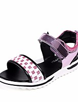 cheap -Girls' Shoes PU Summer Comfort Sandals for Casual Silver Pink Royal Blue