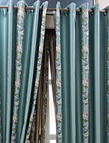 cheap -Sheer Curtains Shades Living Room Floral Cotton / Polyester Embroidery