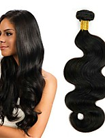 cheap -Brazilian Hair Wavy Natural Color Hair Weaves / Human Hair Extensions 4 Bundles Human Hair Weaves Extention / Hot Sale Natural Black All
