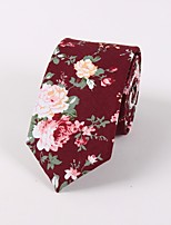cheap -Men's Vintage Party Necktie - Floral