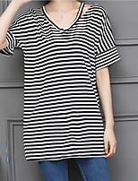 abordables -Mujer Básico Camiseta A Rayas