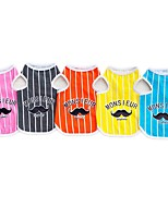 cheap -Dogs Jumpsuit Dress Vest Dog Clothes Solid Colored Cartoon Orange Gray Yellow Fuchsia Blue Padded Fabric Costume For Pets Stylish Sweet