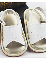 cheap -Girls' Boys' Shoes Leatherette Summer First Walkers Comfort Sandals for Casual Gold White Black