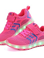 cheap -Girls' Shoes Knit Tulle Summer Fall Light Up Shoes Comfort Sneakers LED for Wedding Casual Black Dark Blue Pink