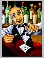 abordables -Peinture à l'huile Hang-peint Peint à la main - Personnage Bande dessinée Contemporain Toile