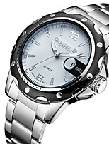 cheap -Men's Quartz Sport Watch Calendar / date / day Alloy Band Luxury Silver