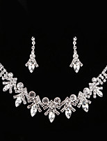 cheap -Crystal / Cubic Zirconia Jewelry Set - Drop, Flower Classic, Vintage, Elegant Include Drop Earrings / Choker Necklace / Bridal Jewelry