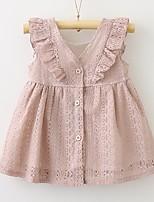 Недорогие -Дети Дети (1-3 лет) Девочки Однотонный Без рукавов Платье