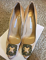 abordables -Femme Chaussures PU de microfibre synthétique Printemps / Automne Confort / Escarpin Basique Chaussures à Talons Talon Aiguille Noir /