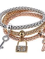 cheap -Women's 3pcs Charm Bracelet Strand Bracelet - Sweet Rainbow Bracelet For Party Gift