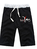 cheap -Inspired by Fate / Zero Saber Anime Cosplay Costumes Cosplay Tops / Bottoms Solid Colored Anime Mid Length Pant Shorts For All