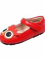preiswerte -Mädchen Schuhe Leder Frühling Sommer Schuhe für das Blumenmädchen Ballerina Flache Schuhe für Normal Schwarz Rot