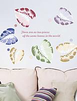 abordables -Autocollants muraux décoratifs - Autocollants avion A fleurs / Botanique Salle de séjour Chambre à coucher Salle de bain Cuisine Salle à
