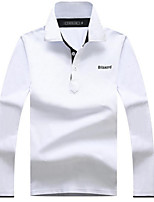cheap -Men's Basic Polo - Solid Colored Letter