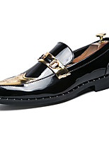 cheap -Men's Shoes Patent Leather Spring Fall Comfort Loafers & Slip-Ons for Casual Office & Career Gold Black
