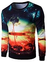 cheap -Men's Basic Sweatshirt - Floral