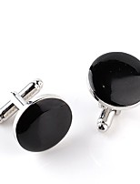 cheap -Circle Silver Cufflinks Alloy Classic Dresswear Daily Formal Men's Costume Jewelry