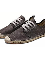 cheap -Men's Shoes Fabric Summer / Fall Comfort Sneakers Black / Brown / Blue