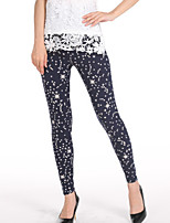 cheap -Women's Daily Basic Legging - Galaxy Mid Waist