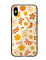 cheap -Case For Apple iPhone X iPhone 8 Pattern Back Cover Flower Animal Hard Tempered Glass for iPhone X iPhone 8 Plus iPhone 8 iPhone 7 iPhone