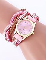 preiswerte -Damen Quartz Modeuhr Chinesisch Armbanduhren für den Alltag PU Band Böhmische Mehrfarbig Schwarz Weiß Blau Rot Rosa