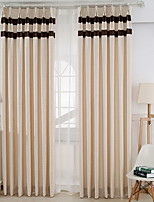 cheap -Curtains Drapes Living Room Stripe Cotton / Polyester Printed