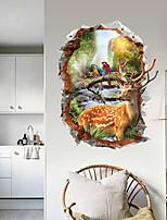 baratos -Autocolantes de Parede Decorativos - Autocolantes de Aviões para Parede Animais 3D Sala de Estar Quarto Banheiro Cozinha Sala de Jantar