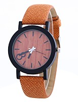 cheap -Women's Quartz Fashion Watch Chinese Large Dial PU Band Minimalist Fashion Black Orange Brown Grey