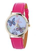 baratos -Mulheres Quartzo Relógio de Moda Chinês Mostrador Grande PU Banda Casual Minimalista Preta Branco Azul Marrom Verde Rosa Rose