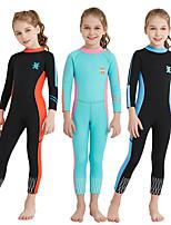 cheap -Girls' Full Wetsuit 2mm SCR Neoprene Diving Suit High Elasticity, UPF50+ Long Sleeve Back Zipper / Patchwork Autumn / Fall / Spring /