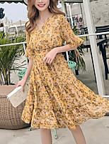 cheap -TS - Loly Lady Women's Street chic Sheath Dress - Floral