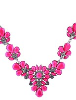 cheap -Women's Flower Pendant Necklace  -  Floral Sweet Yellow Pink 50cm Necklace For Wedding Party / Evening