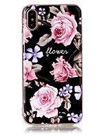 baratos -Capinha Para Apple iPhone X iPhone 8 Ultra-Fina Capa traseira Flor Macia TPU para iPhone X iPhone 8 Plus iPhone 8 iPhone 7 Plus iPhone 7
