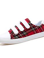Недорогие -Муж. обувь Искусственное волокно Весна / Осень Удобная обувь Кеды Красный / Темно-коричневый / Темно-зеленый